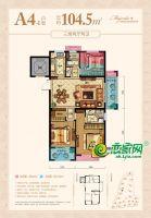 南龙滨江公馆7#楼A4-1户型