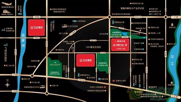 安康万达广场区位图