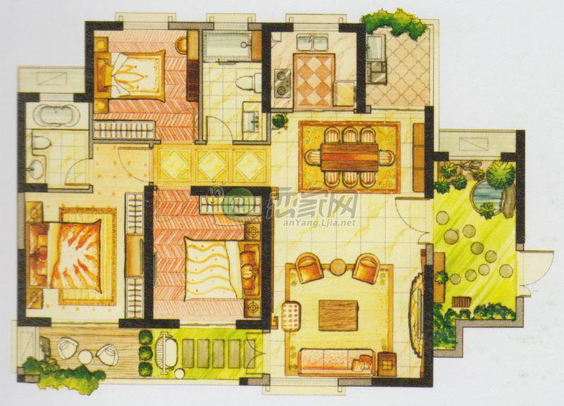 华强城3卡塞雷斯f01户型图