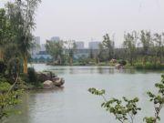 亚龙湾东湖小区清澈湖水