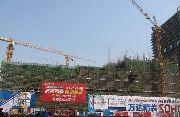 安阳万达广场项目施工现场