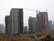 东方明珠工地建设实景图