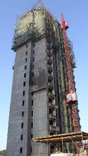 6#楼施工进度实景图