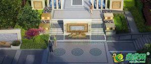 二重花园入口空间效果图