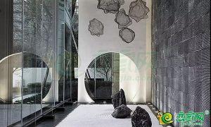 下沉式庭院空间效果图