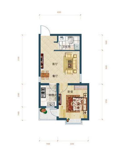 A2区2号楼一居室