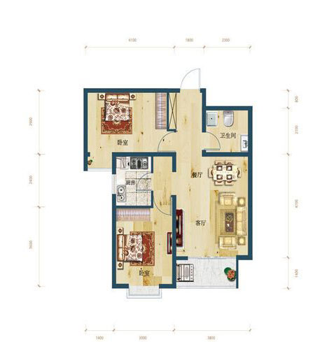 A2区2号楼两居室