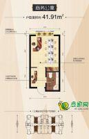 商务公寓户型(41.91㎡建面)