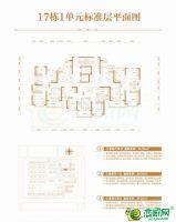 17号楼1单元标准层平面图