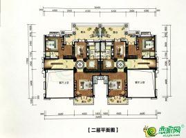 双拼别墅B003T 二层平面图