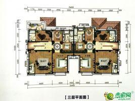 双拼别墅B003T 三层平面图