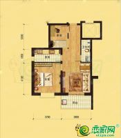 邢台美林湾2室2厅1卫,约80平米