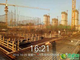 23#楼基础筏板钢筋、墙模板施工完成,通过人防质检站验收