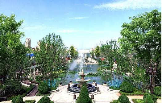 得以打造出近10万㎡欧式皇家园林与2000㎡内湖水景,品质与规模冠绝