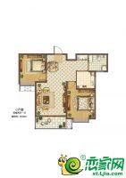 C户型94.05平米两室两厅一卫