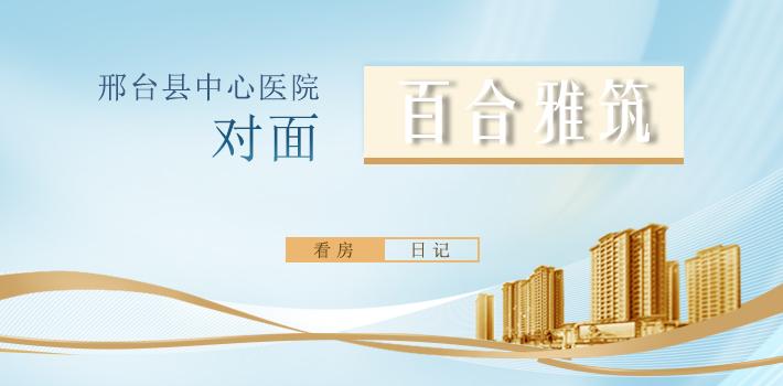 邢台县中心医院对面 百合雅筑看房日记