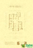 H户型143.42㎡四室两厅三卫