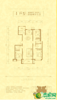 I户型142.54㎡四室两厅三卫
