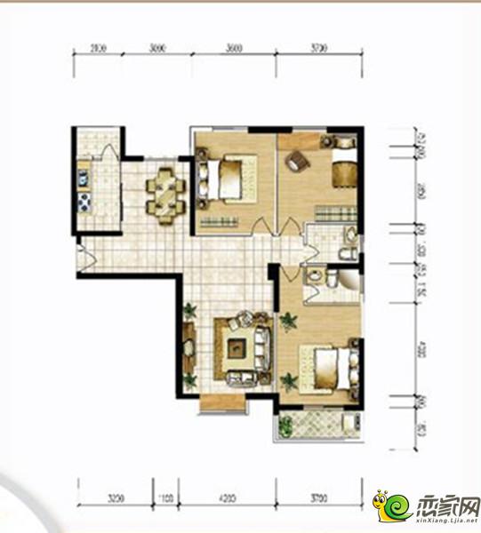 宝龙城市广场三室两厅两卫1