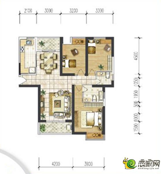 宝龙城市广场三室两厅一卫3