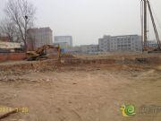 华天公馆工程进度打桩实景