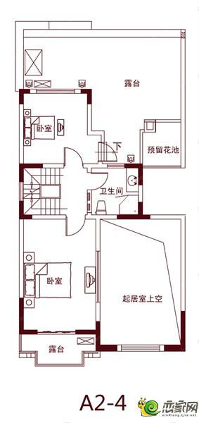绿都温莎城堡的A2-4户型图