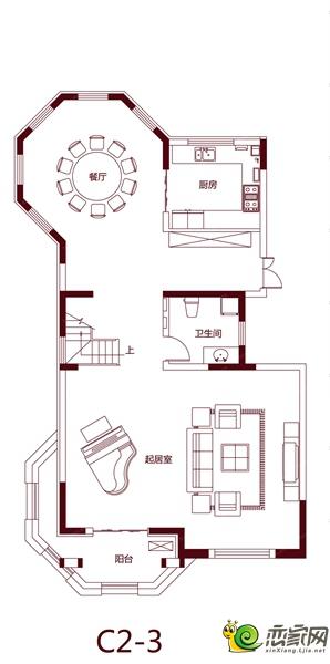 绿都温莎城堡的C2-3户型图