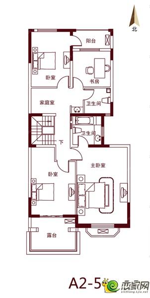 绿都温莎城堡的A2-5户型图