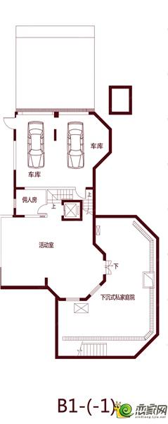 绿都温莎城堡的B1-1户型图