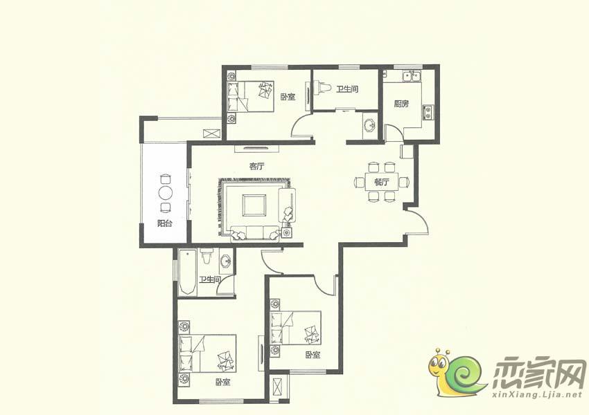 建业壹号城邦C5户型图