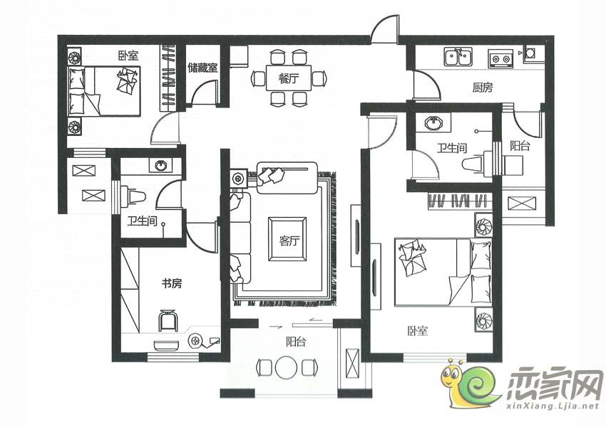 建业壹号城邦B5户型图