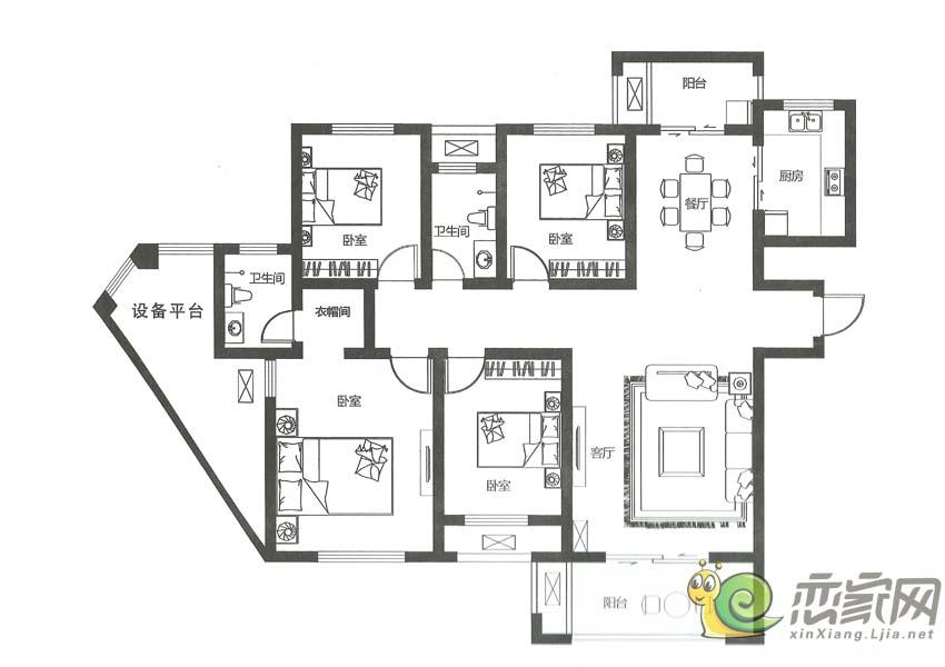 建业壹号城邦D2户型图