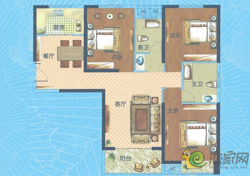深业世纪新城H3-A户型图