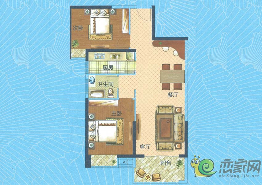 深业世纪新城H3-C户型图