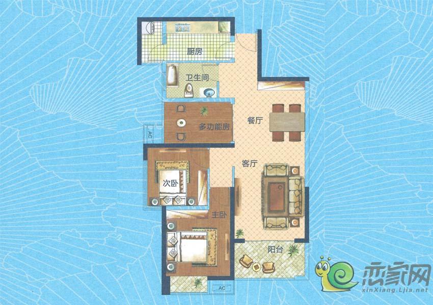 深业世纪新城H5-C户型图