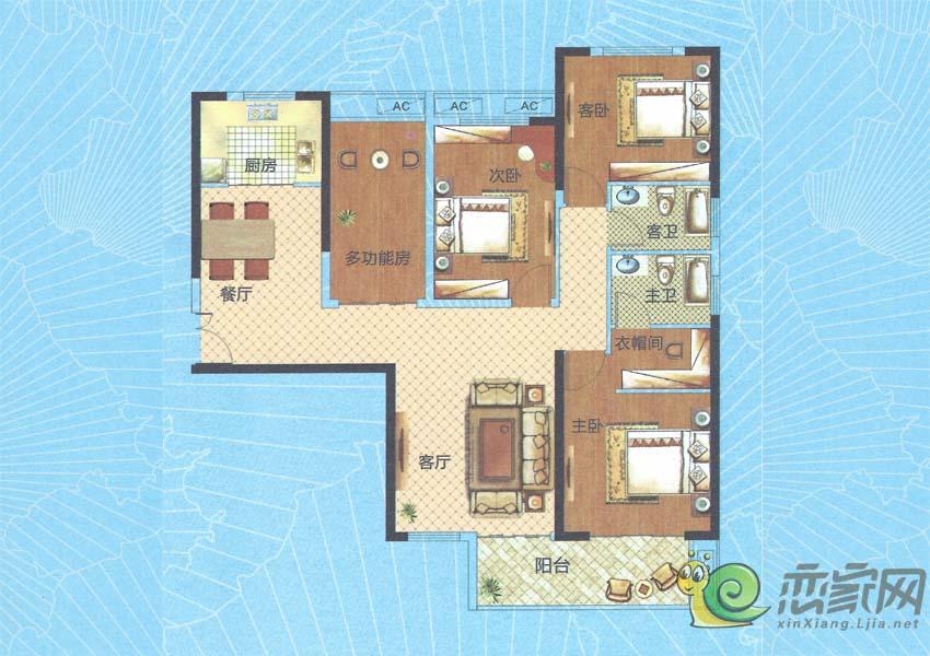 深业世纪新城H5-A户型图