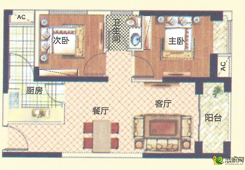 6#楼C户型图