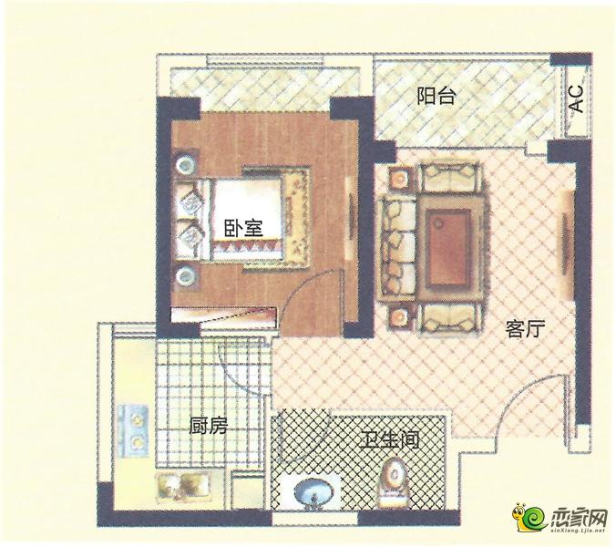 6#楼D户型图