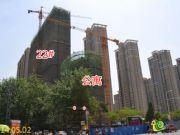 绿都塞纳春天22#楼、公寓工程进度