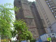 绿都塞纳春天22#楼,共33层,现已建至32层