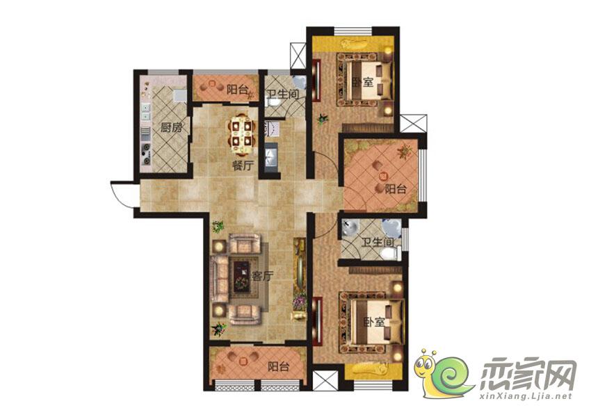 华天公馆1#楼户型6