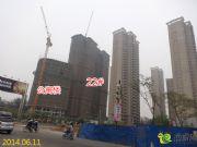绿都塞纳春天公寓和22#楼 22#楼已封顶