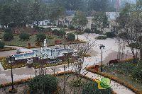 中波褐石公园园林景色鸟瞰实景