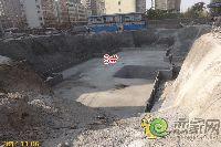 新科状元城3#楼承台已经建设完成