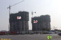 华天公馆1#、5#楼建到20层左右了
