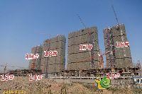 正商城二期项目16#、17#、18#、19#楼封顶;13#、14#、15#楼建到第四层