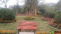 中波褐石公园园林休息座椅