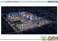 长德商贸城夜景鸟瞰图