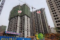 2015.04.17新科状元城3#楼建至20层 4#楼已封顶