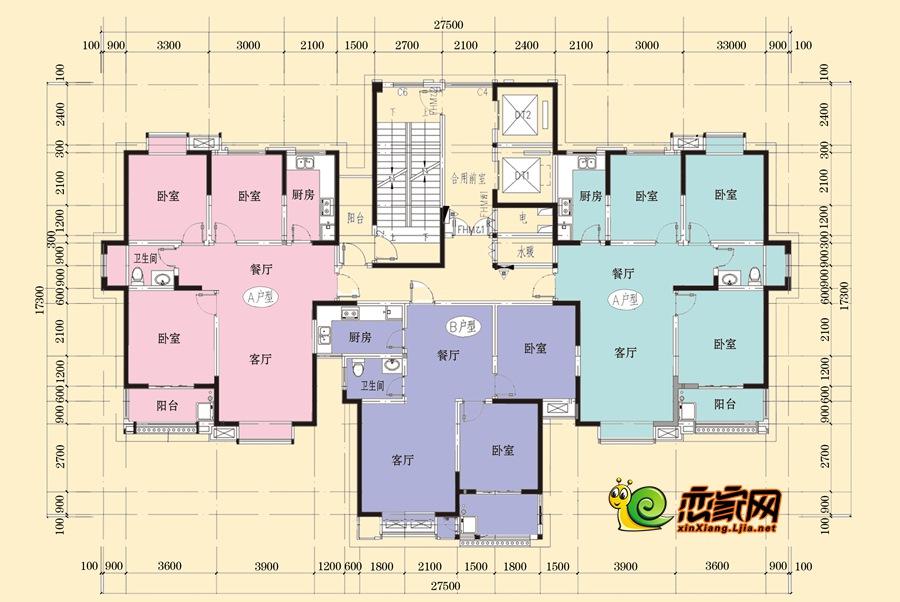 2#楼平面图